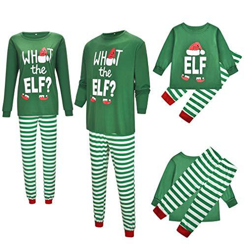2019 pyjama-set voor dames en heren, bedrukte strepen, pyjama's, nachtkleding met lange mouwen en pyjamabroek