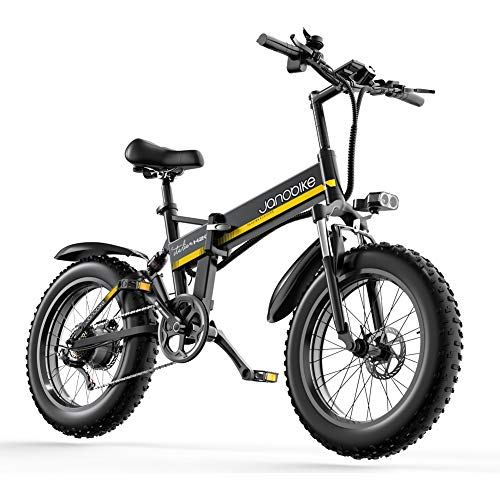 Nother 500W Electric Mountain Bike 9.6Ah Panasonic Battery 48V Ebike 4.0 Fat Tire Folding Electric Bikes for Adults