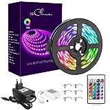 5M RGB LED Strip, LED Streifen 150 LEDs Lichtband, 12V 3A Farbwechsel LED Streifen mit...