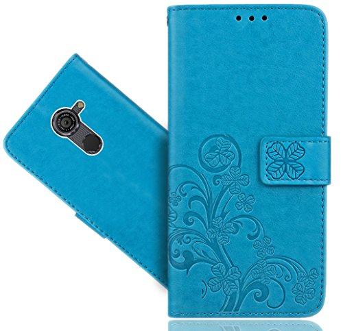 Vodafone Smart Platinum 7 Handy Tasche, FoneExpert® Blume Wallet Hülle Flip Cover Hüllen Etui Hülle Ledertasche Lederhülle Schutzhülle Für Vodafone Smart Platinum 7