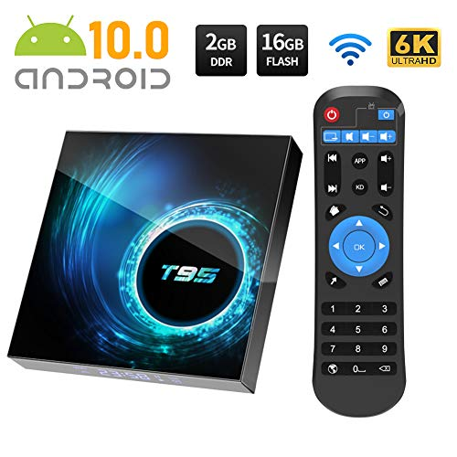 Android TV BOX, T95 Android 10.0 TV BOX 2GB RAM/16GB ROM Allwinnner H616...