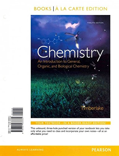 Chemistry: An Introduction to General, Organic, and Biological Chemistry, Books a la Carte Plus MasteringChemistry with