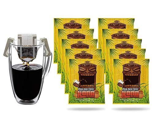 Pour Over Coffee Single Serve | Portable Drip Coffee Packets | Premium Ground Organic Coffee Drip Bags | Medium Roast...