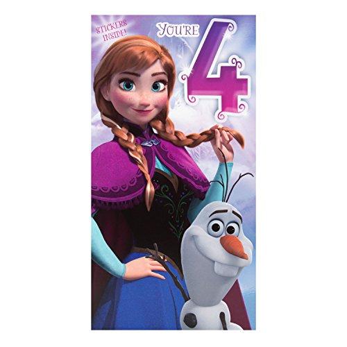 """Hallmark Disney Geburtstagskarte zum 3.Geburtstag mit Frozen-Design aus Die Eiskönigin """"Magical Wishes"""" (in englischer Sprache), Gr. M, Medium Slim"""