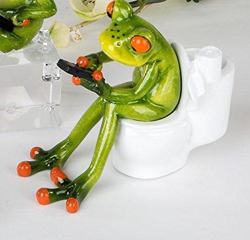 formano Frosch sitzt auf der Toilette grün 717979 Laptop