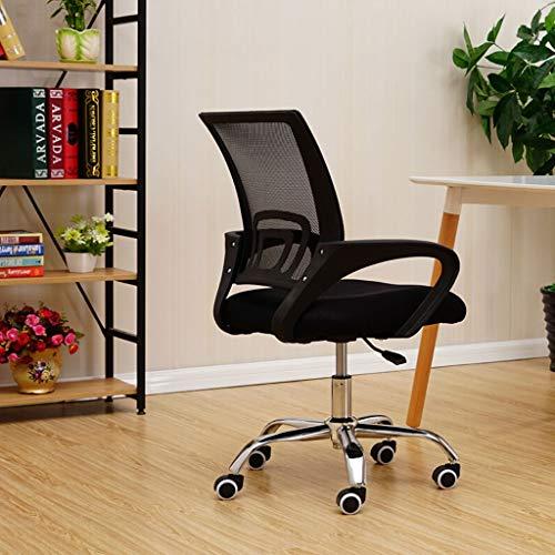 Executive Recline Mesh bureaustoel, Ergonomische Executive rugleuning Dikke Sponge Stoel Comfortabele Ademende Makkelijk te reinigen fauteuil bureaustoel Zwart