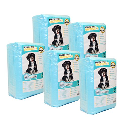 Pooch Pad Protection Best Training Pads 125 Count, Premium Quality Liquid Absorbent Wee Wee Pads. Soft & Thick Puppy Pads for Any Size Dog, Any Size cat Training