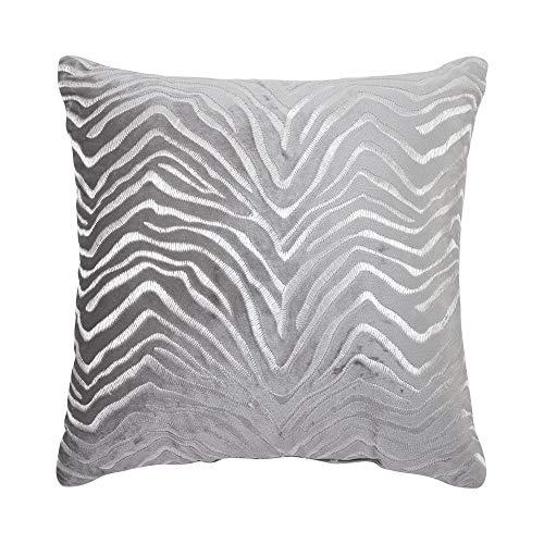 Croscill Nova Fashion Pillow, 18x18, Silver
