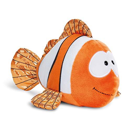 NICI Kuscheltier Clownfisch Claus-Fisch 23 cm – Clownfisch Plüschtier für Mädchen, Jungen & Babys – Flauschiges Stofftier zum Kuscheln, Spielen & Schlafen – Schmusetier liegend – ab 0 Monaten – 45357