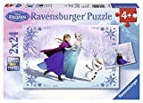 Ravensburger Disney Frozen Sisters Always Puzzle Box 2 x 24 Piece Jigsaw Puzzles for Kids – Every Piece is Unique, Pieces Fit Together Perfectly