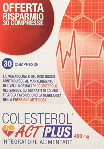 Act Colesterol Plus, Integratore Alimentare, 30 comprese, 400 mg