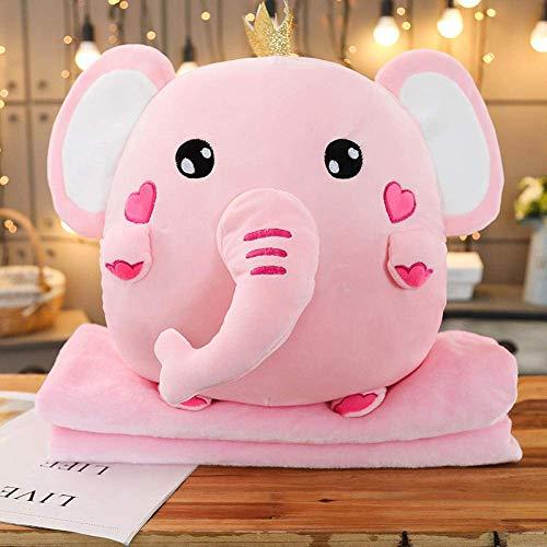 JMHomeDecor Cute Animal Warm Hand Pillow Unicorn Elephant Pillow Cushion Plush Filled With Blanket Pillow Home Sofa Cushion Boy Girl Gift-30Cm_Pink