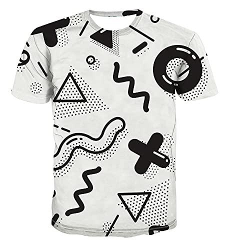 SSBZYES Verano Camisetas para Hombre Camisetas De Manga Corta para Hombre Camisetas De Gran Tamaño Camisetas Estampadas Cuello Redondo Hombres Y Mujeres Casual Mangas Cortas para Todos Los Partidos