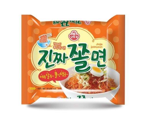 Ottogi Sweet & Spicy Cold Noodle Jinjja Jjolmyeon 진짜쫄면 4 Pack