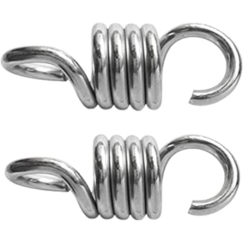 2x Sturdy Steel Suspension Hooks Springs Hammock Chair Swing Chair Hanger 400kg