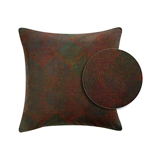 Vivaraise ~ Coussin Rosetta Vert de Gris Coton 45x45
