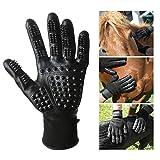 LANGING Haustierpflege Handschuhe Linke und rechte Hand für Katzen Hunde und Pferde langes kurzes Fell