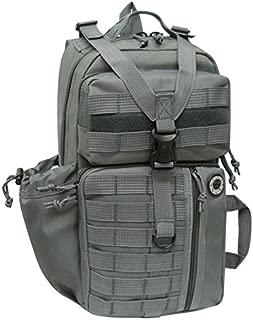 NPUSA Mens Tactical Gear Molle Hydration Ready Sling Shoulder Backpack Daypack Bag