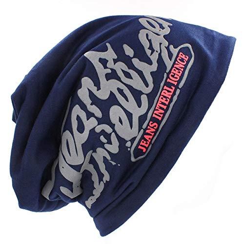 Mdsfe sweatshirt hoed voor mannen en vrouwen gebreide katoenen schedel Hip Hop Stretch Cap k2487 dark blue-A2487