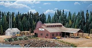 Walthers Cornerstone N Scale Model 174 Brown Scale Mountain Lumber Chevron Sawmill - Kit