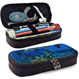 Tauchleder Pencil Pen Case, Reise Make-up Tasche, Beutelhalter Box