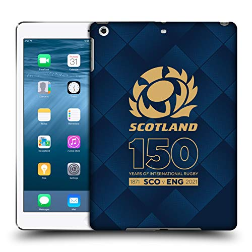 Official Scotland Rugby Halftone 150th Anniversary Hard Back Case Compatible for Apple iPad Air (2013)