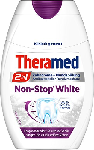 Theramed 2in1 Non-Stop white Liquid, 3er Pack (3 x 75 ml)