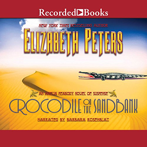 Crocodile on the Sandbank audiobook cover art
