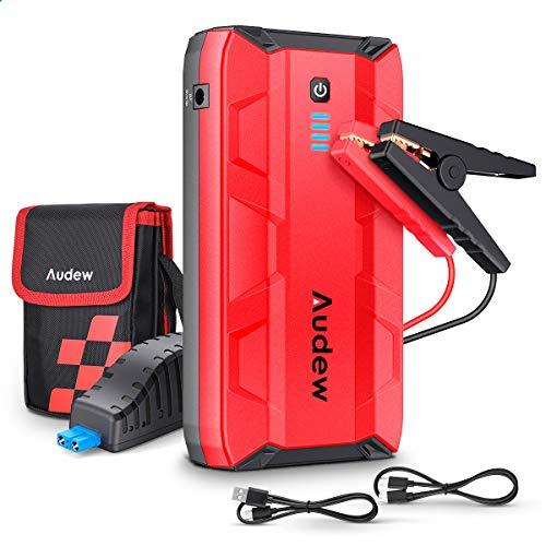 Audew Starthilfe Powerbank Auto Starthilfe 1000A 10800mAh (Für bis zu 8,0L Gas oder 5,0L Diesel) Jump Starter Auto Tragbare Anlasser Autobatterie 12V