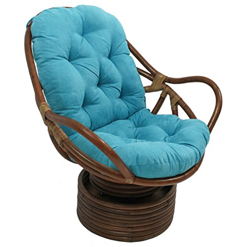 Blazing Needles Solid Microsuede Swivel Rocker Chair...