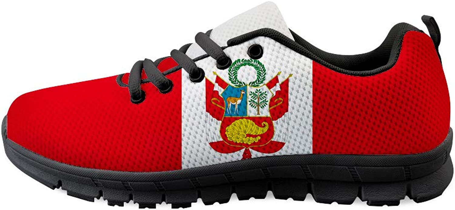 Owaheson Lace-up Sneaker Training shoes Mens Womens Peru Flag
