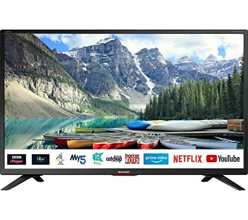 SHARP 32BC5KH2FB 32' Smart HD Ready LED TV - Black (Freeview HD with...