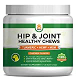 Hip & Joint Supplement for Dogs - Hemp Oil Infused Soft Chews Dog Treats...
