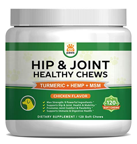 Hip & Joint Supplement for Dogs - Hemp Oil Infused Soft Chews Dog...