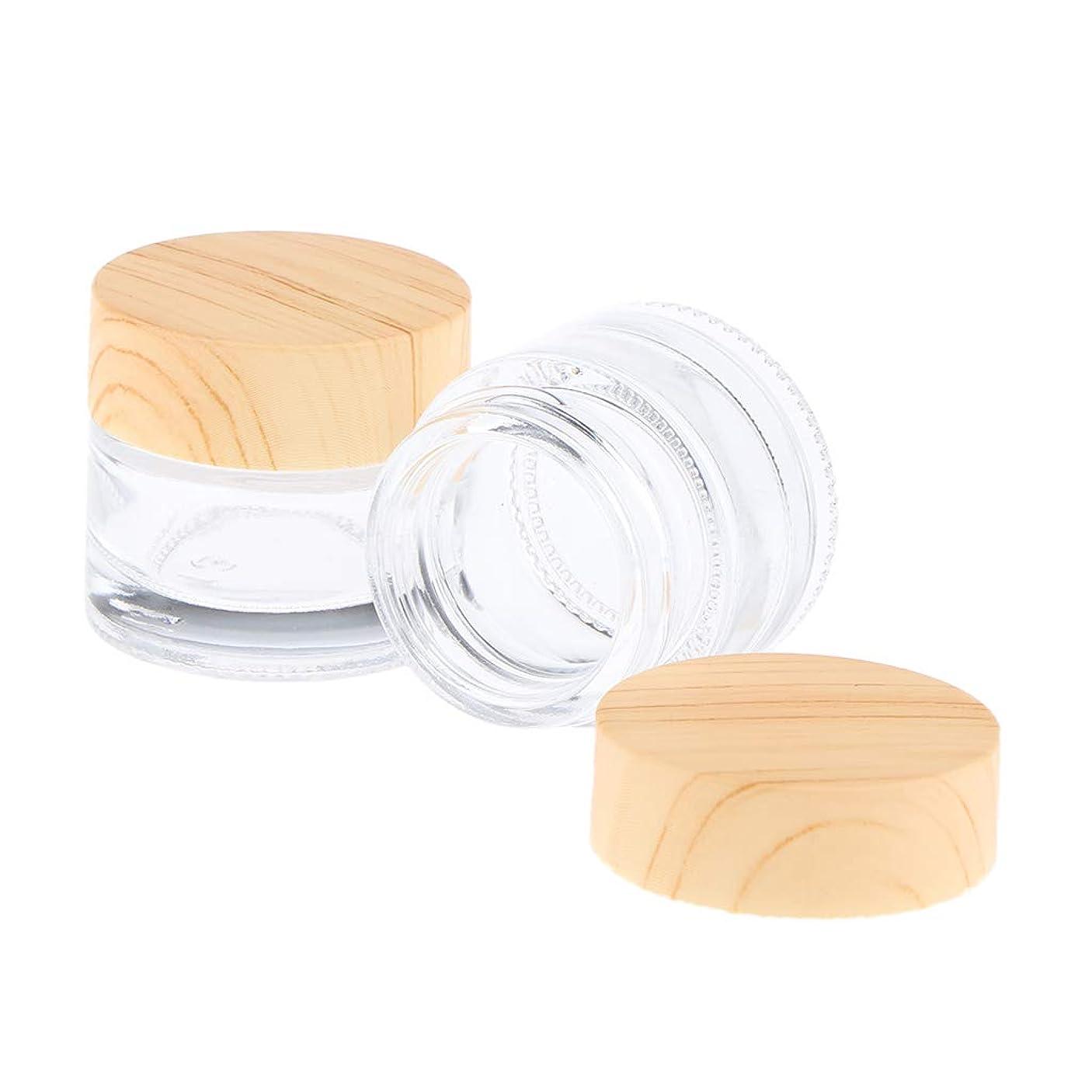 F Fityle 2個 空瓶 化粧品瓶 化粧ポット ローション クリーム ジェル 容器 クリア 5サイズ選べ - 10g