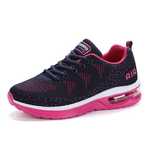 frysen Laufschuhe Herren Damen mit Dämpfung Sportschuhe Air Turnschuhe Luftsohlen Sneaker Luftpolster Schuhe Blue Pink 41