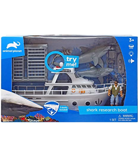 AP New Animal Planet Shark Research Boat Playset