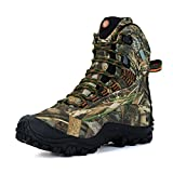 Manfen Women's Mid-Rise Waterproof Hiking Shoe US 8 Camo