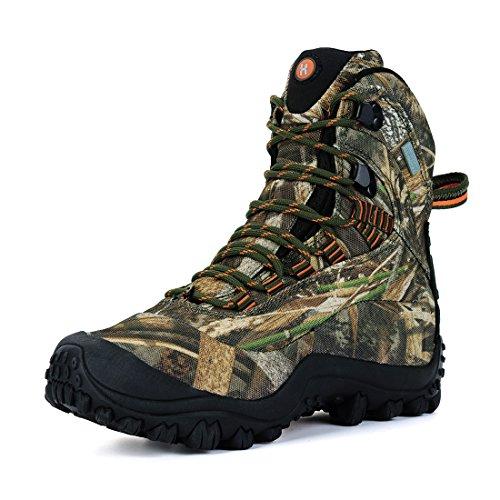 Manfen Women's Mid-Rise Waterproof Hiking Hunting Outdoor Boots Shoe Camo 8.5