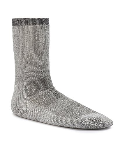Timberland TM31498T Men's Premium Wool Marled Crew Socks, Color: Black, Size: M