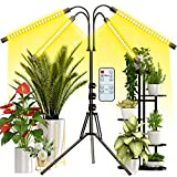 Grow Light with Stand, FRENAN Grow Lights for Indoor Plants with Full Spectrum, 10 Dimmable Brightness, 4/8/12H Timer, 3 Switch Modes, Adjustable Gooseneck, Suitable for Various Plants Growth