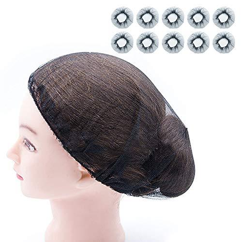 Hair Nets,Reusable Hairnets - Food Service/Work Long Hair/Sleep/Nurses,MOIKY Kitchen Beauty Home Elastic Mesh Hair Head Cover Net(10 pcs,Black)