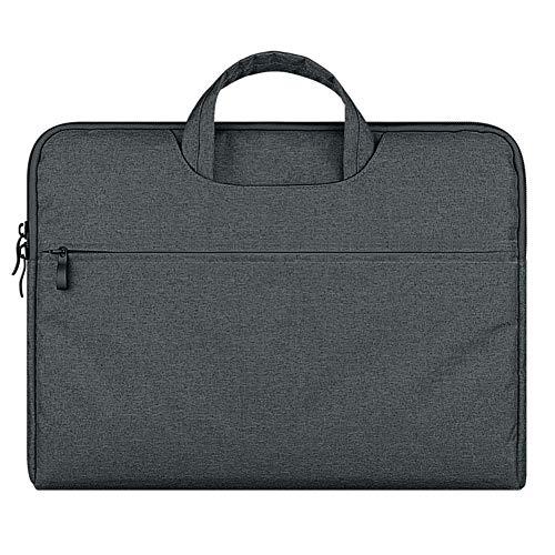 Funda Protectora Compatible con Pulgadas MacBook Pro Retina/Surface Book/DELL Lenovo HP Acer ASUS Samsung de Portátil,Gris Oscuro,15.6