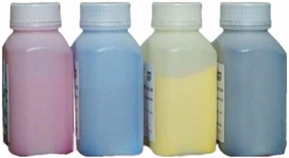 100g//Bottle,6 Black,6 Cyan,6 Magenta,6 Yellow No-name Refill Copier Color Laser Toner Powder Kits for Konica Magicolor 7400 7440 7450 for Epson LP-S7000 LP-S7500 7000 7500 Printer Toner Power