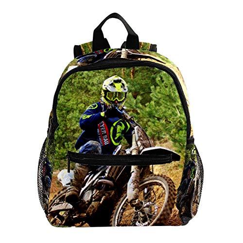 Grundschule Schultasche Moto-Cross Teenager Mädchen Schulrucksack ergonomischer Kinderrucksack Jugendliche 25.4x10x30 cm