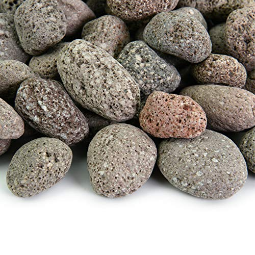 Red 2 Inch - 4 Inch Fire Rock | Fireproof and Heatproof Round Pebbles for Indoor or Outdoor Gas Fire Pits and Fireplaces - Natural, Hand-Picked Stones | 10 Pounds