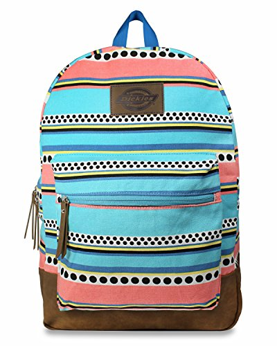 Dickies Cotton Canvas Hudson Backpack, Surf Stripe, One Size