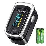 Pulse Oximeter, Oxygen Monitor Finger Heart Rate Monitor Oxygen Saturation Monitor Adult
