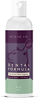 Petlab Co. Dental Formula Water Additive for Cats | Targets Cat Plaque and Tartar Build-UpforFresher Breath and Healthier Gums | Fresh Drinking Oral Hygiene Care (No Brush Required)