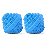 Wash Wizard Laundry Ball (2-Pack) Reusable, Natural, Hypoallergenic & Eco-Friendly Washer Ball Laundry Detergent Alternative, Last up to 1500 Washings